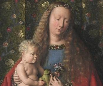 Jan van Eyck Madonna Jezus Christus.jpg