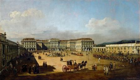 Kaiserliches Lustschloss Schonbrunn, Hofseite Canaletto.jpg