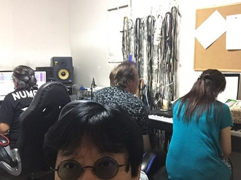 my blue heaven recording staff.JPG